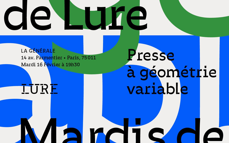 Rencontre typographique de lure